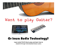 Guitar Lessons and/or learn Audio Technology  in the Cork area